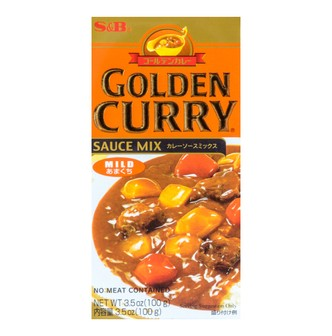 S&B GOLDEN Curry Sauce Mix - Mild 100g