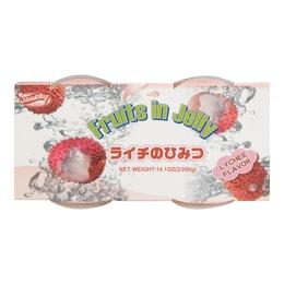 SHIRAKIKU Jelly Cup Lychee Flavor 2 Cups 400g