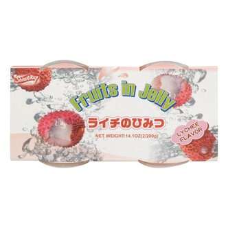 日本SHIRAKIKU赞岐屋 果肉果冻 荔枝味 400g