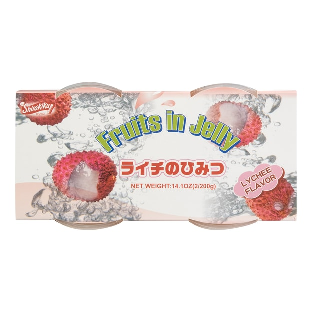 Product Detail - SHIRAKIKU Jelly Cup Lychee Flavor 2 Cups 400g - image 0