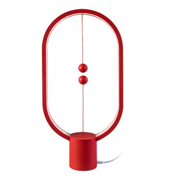 ALLOCACOC Lightweight Magnetic Switch in Mid Air USB Powered LED Heng Balance Lamp #Red Red Dot Award Winner