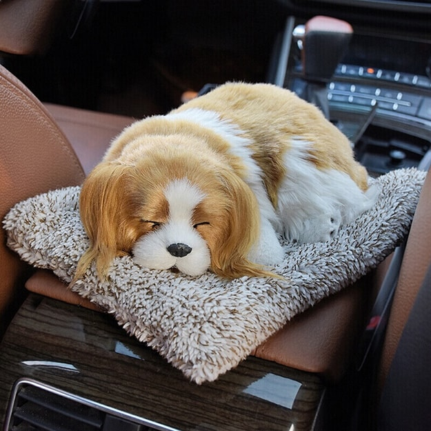 Product Detail - LORDUPHOLD Car Interior Decoration Dog Decor Car Ornament Plush Dogs Shake Head Simulation Sleeping Charlie Dog 1 pcs - image 0