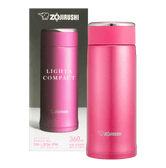 ZOJIRUSHI Stainless Steel Thermal Bottle Floral Pink 360ml SM-LB36