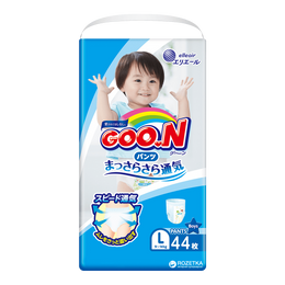 GOO.N Baby Diaper Pants for Boy Type L Size 9-14kg 44Pcs