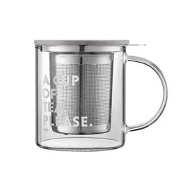 BUYDEEM Glass tea cup 350ml
