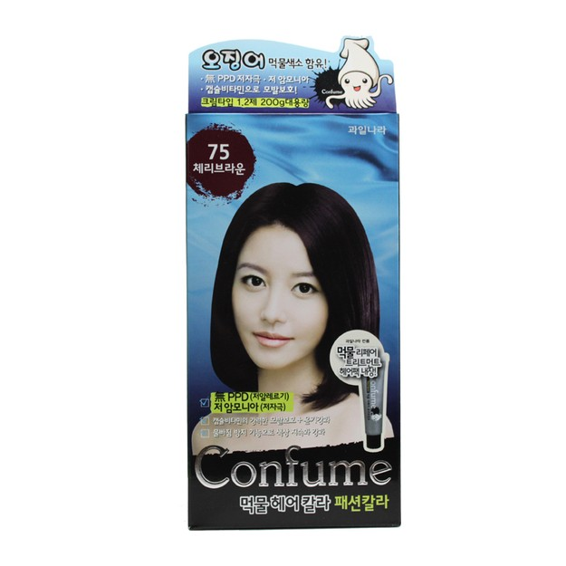 Product Detail - FRUIT LAND CONFUME Squid Ink Hair Color #75CherryBrown - image 0