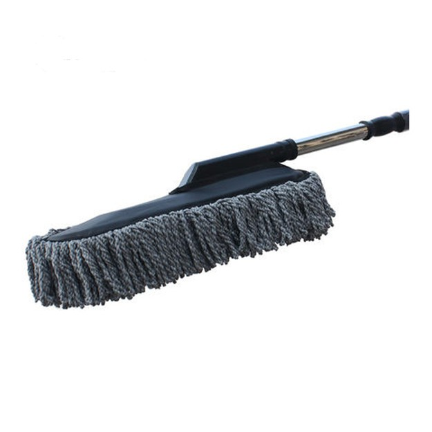 Product Detail - LORDUPHOLD Car Brush Wax Drag Retractable Mop Wash Cleaning Supplies Gray 1 pc - image 0