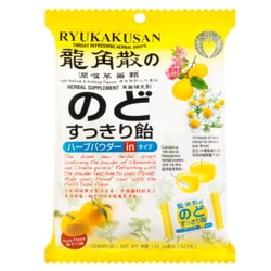 RYUKAKUSAN Throat Refreshing Herbal Drops Yuzu Flavor 15 Drops