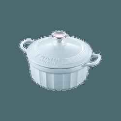 北鼎BUYDEEM 日本搪瓷家用加厚珐琅铸铁锅 CP521 22cm 小鲸蓝 煲汤焖炖烤煎煮 一锅就能搞定