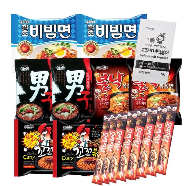 Product Detail - Pack of 19 Korean Hit K-Foods Noodle Ramen Variety Pack w/ Tteokbokki Sauce & Instant Coffee Mix - image 0