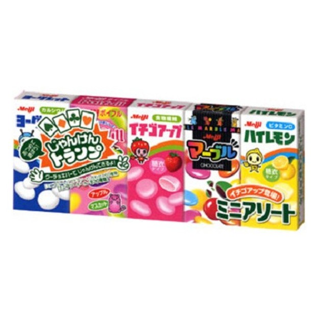 Product Detail - MEIJI 5 Mini Candy Assortment Pack 63g - image 0