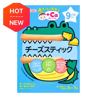 WAKODO Baked  Baby Cheese Sticks 9M+ 21 Sticks (with Calcium)