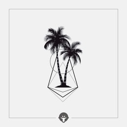 @BECOME Original Tattoo Stickers Coconut tree One Piece