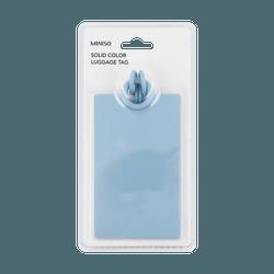 名创优品Miniso 纯色行李牌 蓝色