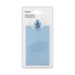 Miniso Solid Color Luggage Tag(Blue)