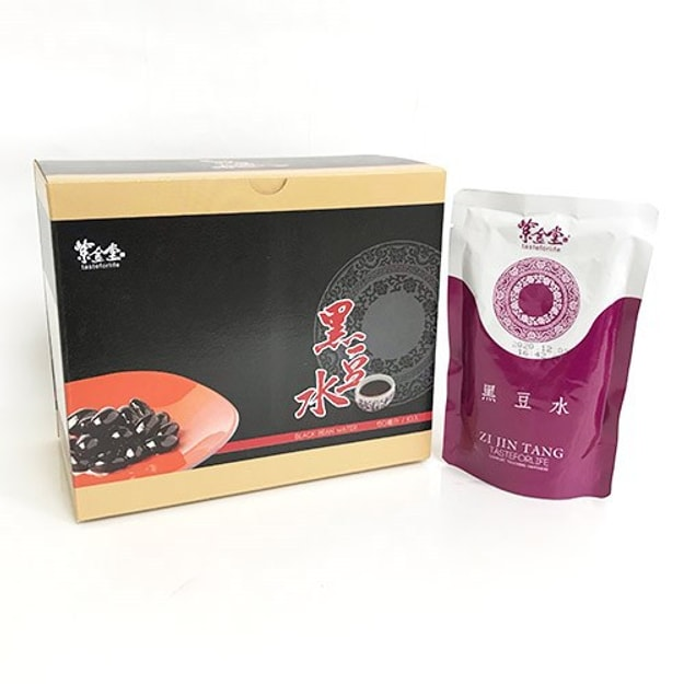Taiwan ZI JIN TANG Black Bean Water 150ml/bag 10 bags/box