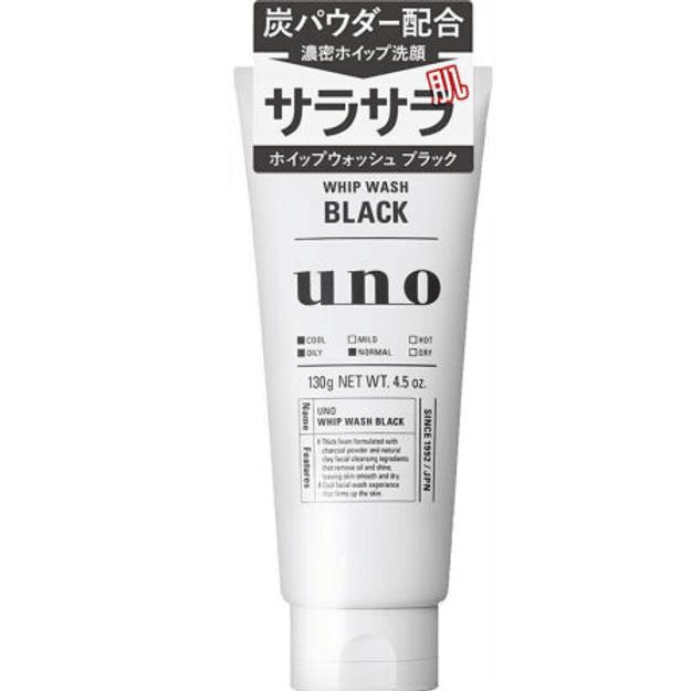 商品详情 - 【日本直邮】SHISEIDO资生堂 洗面奶洁面乳面部清洁 吾诺UNO 黑色130g - image  0