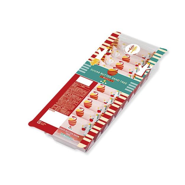 商品详情 - DHL直发【日本直邮】日本名菓 砂糖奶油树 冬季限定 苹果奶油巧克力口味夹心饼干 10枚装 - image  0