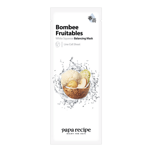 PAPA RECIPE Bombee Fruitables White Squeeze Balancing Mask 1 sheet