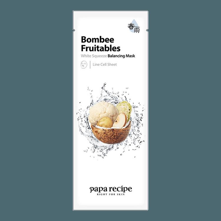 PAPA RECIPE Bombee Fruitables White Squeeze Balancing Mask 1 sheet - Yamibuy.com