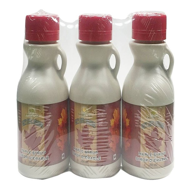 CANADA TRUE Pure Maple Syrup (Amber) 3x250ml