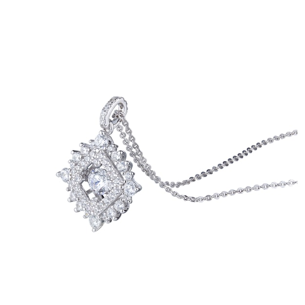ARIEL Sterling Silver Dancing Diamond (Square)