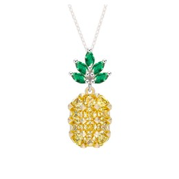 ARIEL  Summery Chrystal Pineapple Necklace