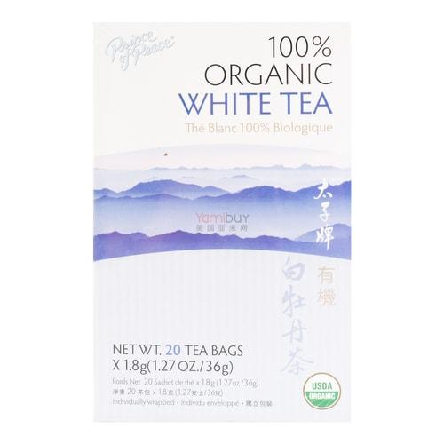 Prince Of Peace Premium Organic White Tea 20 Bags 36g