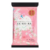 KOKUBO Wet Tissue Cherry Blossom Scent Wipes Large 20 Sheets