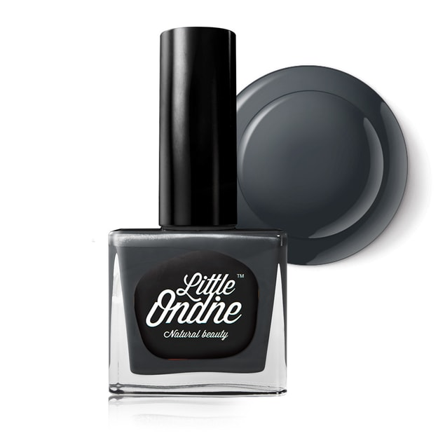 Product Detail - Little Ondine Water-based Peel off Odor Free Quick Dry Non Toxic Nail Polish-Solid Grey 0.36 Fl Oz(L744-The Pianist) - image 0