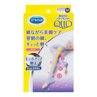DR. SCHOLL QTTO Overnight Slim Over Knee Leggings #purple M