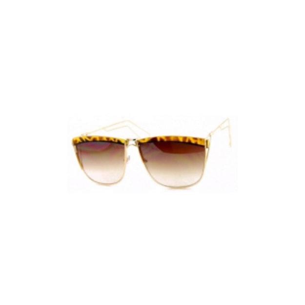 商品详情 - RETRO POP 时尚太阳镜 5059 金色&豹纹镜框/棕色镜片 - image  0