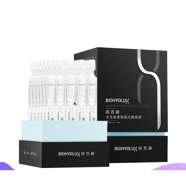 Product Detail - BIOHYALUX AQUA LIGHTENING SINGLE USE Stoste 1.5ml*30uses - image 0
