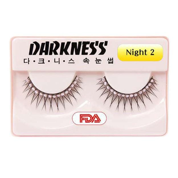 Product Detail - DARKNESS False Eyelashes #Night2 1Pair In 1Box - image 0