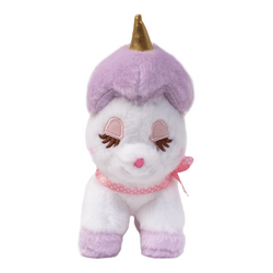 AMUSE Purple Unicorn Plush Toy 4 in1 Keychain 4inch