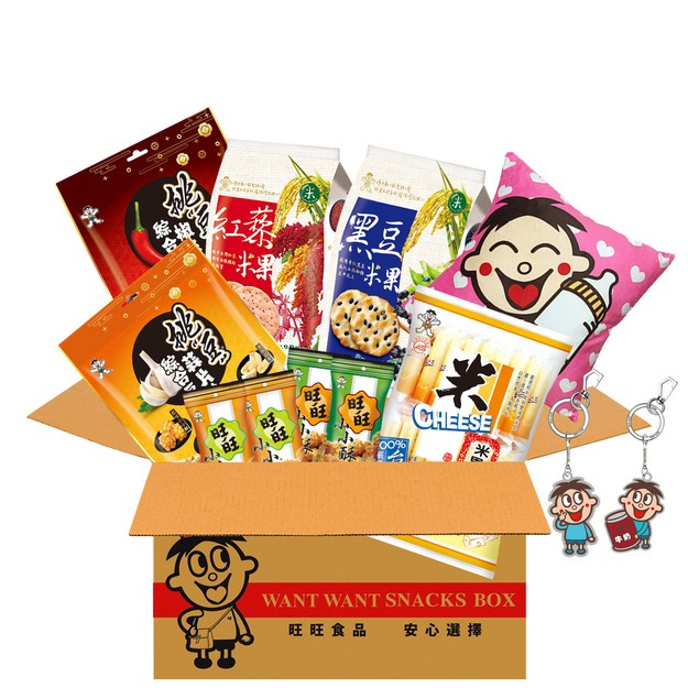 Product Detail - Taiwan WANT WANT Family Party Snack Gift Box Rice Cracker Accessories 1121g - image 0