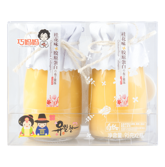 韩国巧妈妈 胶原蛋白布丁 桂花味 2瓶入 190g