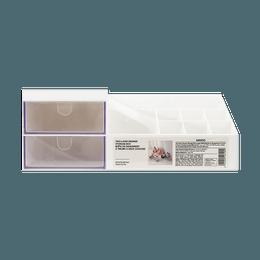 Miniso Two-layer Drawer Storage Box-Large #White