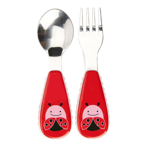 Product Detail - SKIPHOP Baby Zoo Little Kid and Toddler Fork and Spoon Utensil Set 12M+ - Multi Livie Ladybug - image 0