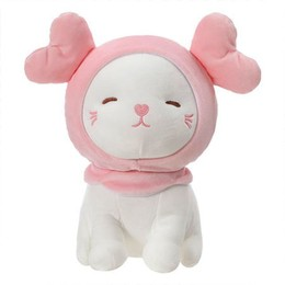 Miniso Kitten Plush with Double Hearts