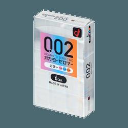 OKAMOTO 002 EX 0.02mm 3-Colors Polyurethane Condoms 6pcs