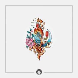 @BECOME Original Tattoo Stickers Bi Fang One Piece