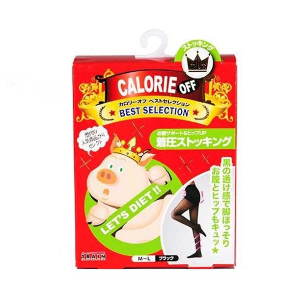 Product Detail - TRAIN CALORIE OFF Waist Support & Hip Up Tights #Black 1pcs - image 0