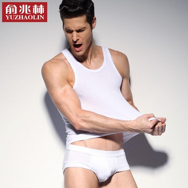 Product Detail - 俞兆林 【3条装】男士背心男纯棉休闲运动潮男背心 黑灰白三色装 L - image 0