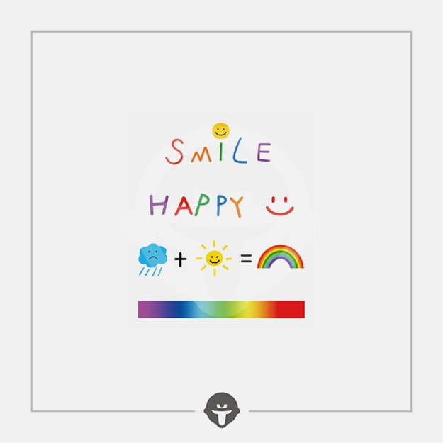 Product Detail - @BECOME Original Tattoo Stickers Rainbow Smile Three Piece - image 0
