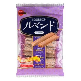 日本BOURBON波路梦 可可奶油千层酥脆卷 93g