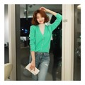 WINGS V-Neck Cropped Cardigan #Mint One Size(S-M)