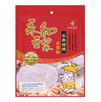 YON HO Soy Milk Instant Walnut Soybean Meal Powder Brewed Soy Milk Nutritious Food 300g