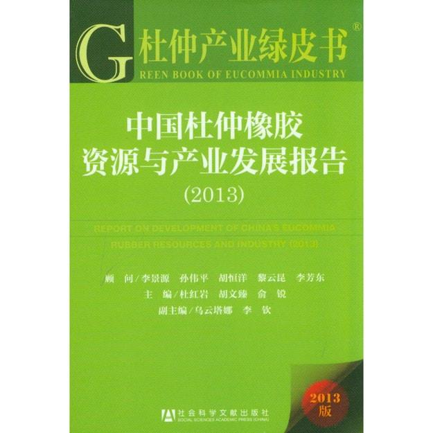 商品详情 - 杜仲产业绿皮书:中国杜仲橡胶资源与产业发展报告(2013) - image  0