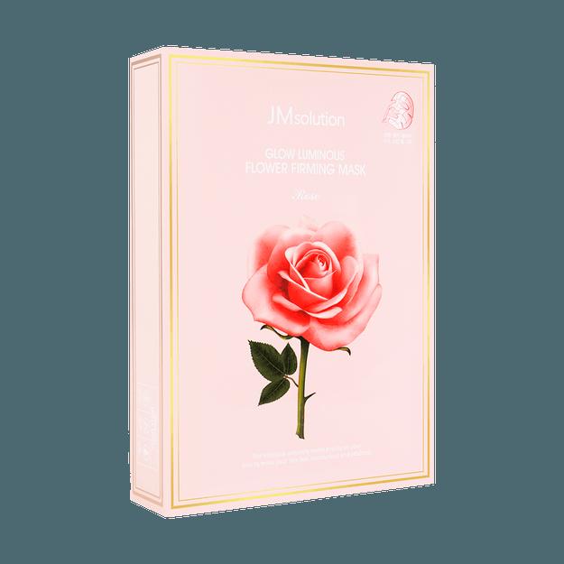 商品详情 - 韩国JM SOLUTION 肌司研润光花朵紧致面膜 玫瑰版 10片入 - image  0